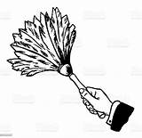 Duster Feather Dust Chores Domestic sketch template