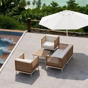 Canape De Jardin Bois : salon jardin canape fabulous salon de jardin bas design ~ Premium-room.com Idées de Décoration