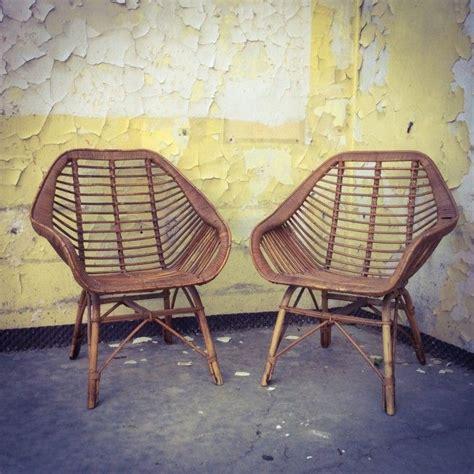 fauteuil en rotin rotin et osier bon 233 tat vintage