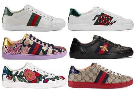 gucci ace sneakers reference guide spotted fashion