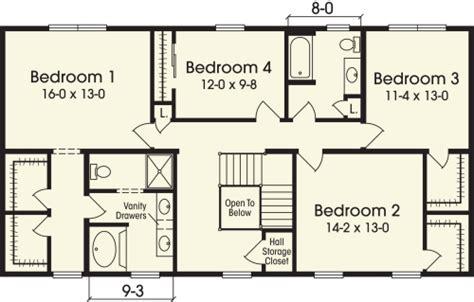 2 story 4 bedroom house floor plans escortsea