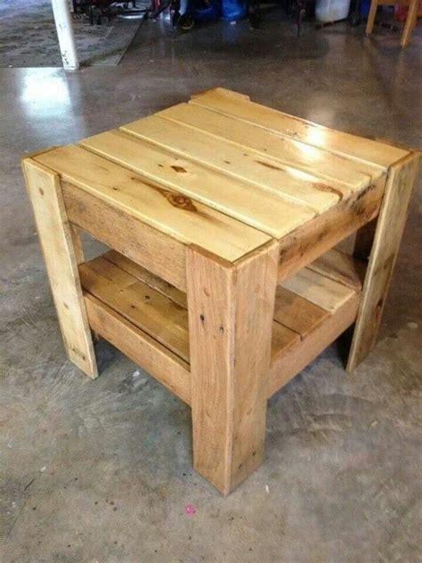 diy wood end table 15 diy pallet wood side tables end tables pallets designs