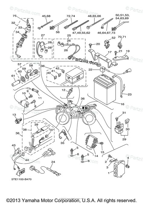 Neutral Wiring Diagram Atv by Yamaha Atv 2003 Oem Parts Diagram For Electrical 1