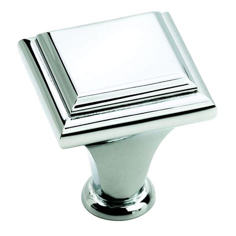 square chrome cabinet knobs shop amerock 1 in polished chrome manor square cabinet