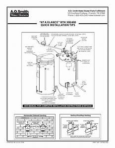 A O  Smith Bth 300 User Manual