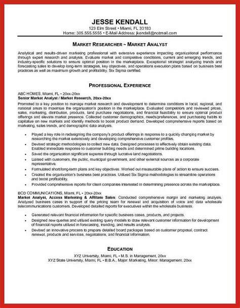 data analyst resume resume format