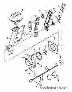remote control assy various years rigging parts remote With mercury control diagram