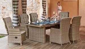 Gartenmöbel Polyrattan Set : gartenm belset riviera 13 tlg 6 hochlehner tisch ~ Watch28wear.com Haus und Dekorationen