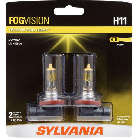 h11 bulb sylvania fog yellow bulbs headlight silverstar halogen light lights osram xtravision automotive ultra vision legal amazon contains brightest