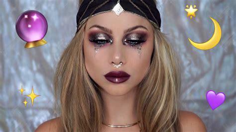 fortune teller makeup tutorial halloween costume beeisforbeeauty youtube