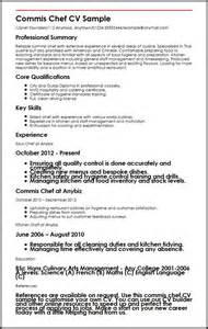 resume of commis chef commis chef cv sle myperfectcv