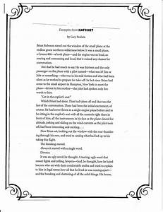 Short Essays For High School Students Hatchet Essay Questions And Answers Example Of An Essay With A Thesis Statement also English Essay Com Hatchet Essay Questions I Need Help Writing A Thesis Statement  Research Papers Examples Essays