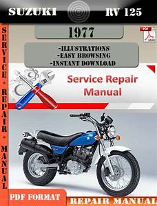 Suzuki Rv 125 1977 Digital Factory Service Repair Manual