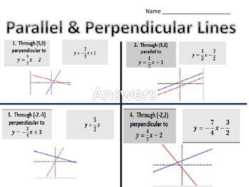 matching equations and graphs of parallel and