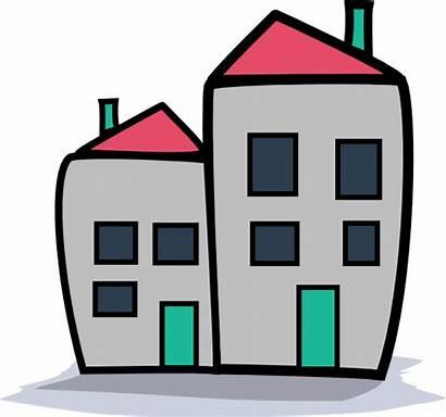 Clipart Apartment Flats Block Transparent Bldg Kompleks