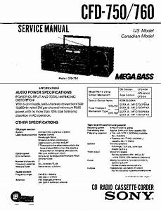 Sony Cfd-470  Cfd-740  Cfd-750  Cfd-760 Service Manual