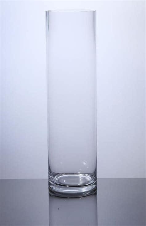 glass cylinder vases bulk pc518 cylinder glass vase 5 quot x 18 quot 6 p c cylinder glass