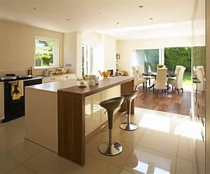 Raised kitchen breakfast bar kitchen contemporary with