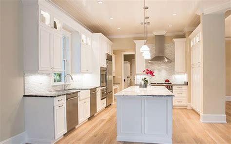 clean white kitchen bleached wood floor