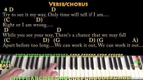We Can Work It Out (the Beatles) Piano Cover Lesson With Chords/lyrics
