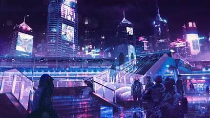 Cyberpunk Neon Wallpapers 4k Backgrounds Scifi Artist