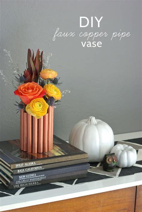 Diy Faux Copper Pipe Vase  Oleander + Palm