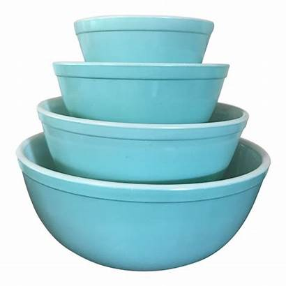 Pyrex Bowls Mixing Turquoise 1950 1950s Chairish