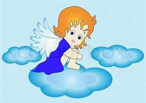 Engel Auf Wolke Schlafend : abbildung kleiner engel sitzt auf wolke im himmel vektorgrafik colourbox ~ Bigdaddyawards.com Haus und Dekorationen