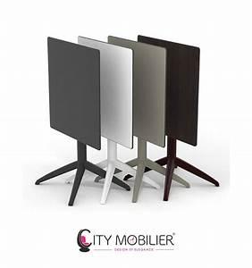 Table Bistrot Pliante : table pliante quatro city mobilier ~ Teatrodelosmanantiales.com Idées de Décoration