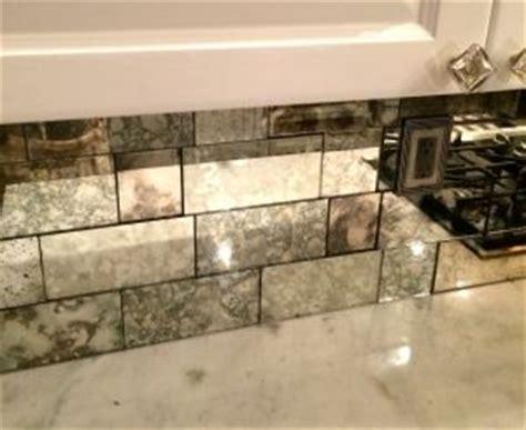 mirror tiles kitchen backsplash antique mirror backsplash installed in different tile 7531