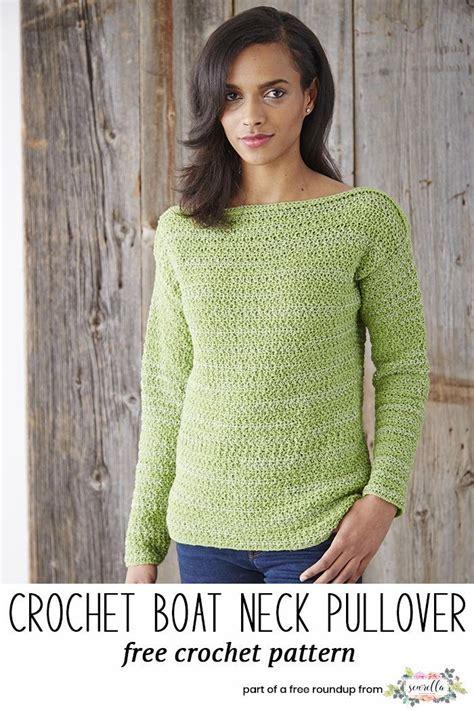 Boat Neck Jacket Look by Crochet Sweater Patterns That Look Knit Free Crochet