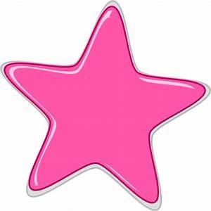 Pink Star Edited2 Clip Art at Clker.com - vector clip art ...