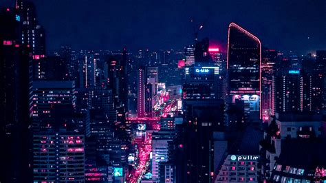 download wallpaper 1920x1080 city city lights aerial view buildings architecture