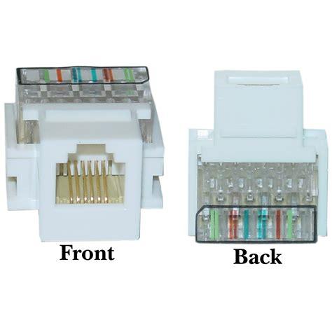white phone keystone rj11 rj12 to wire insert