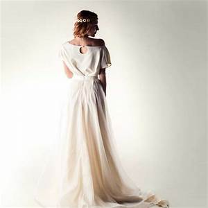 silk two piece wedding dress dandelion on larimeloomcom With plus size 2 piece wedding dresses