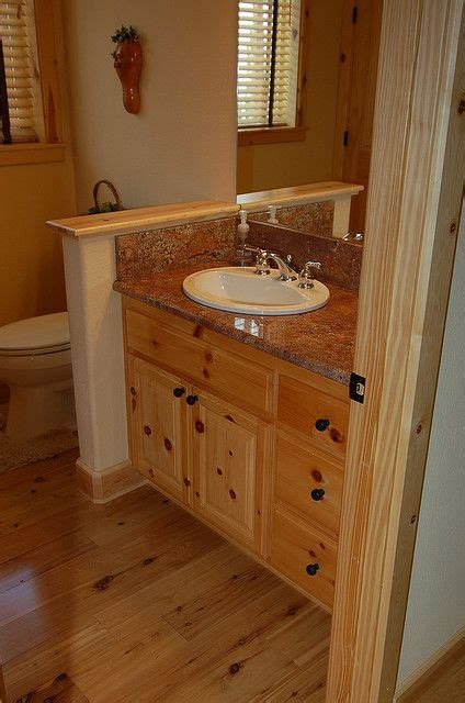 knotty pine vanity log home bathrooms cabin bathrooms