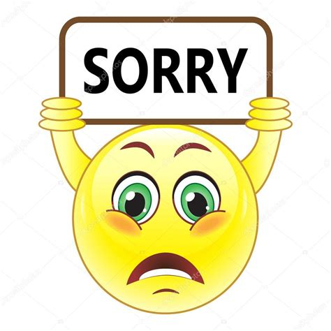 Sorry Clipart Smiley With Sorry Symbol Stock Vector 169 Natalipopova