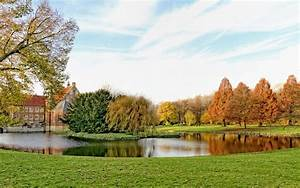 Germany, Parks, Pond, Grass, Trees, Nature, 409763, Wallpapers13, Com