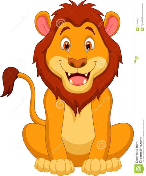 lion cartoon clipartsco