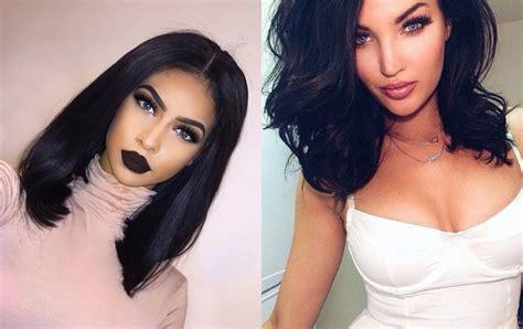 mesmerizing jet black hairstyles  hairdromecom
