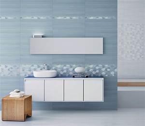 deco salle de bain carrelage mural With carrelage adhesif salle de bain avec photophore à led