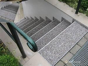 Steinteppich Treppe Außen : marmorix steinteppich verlegebeispiele treppen ~ Sanjose-hotels-ca.com Haus und Dekorationen