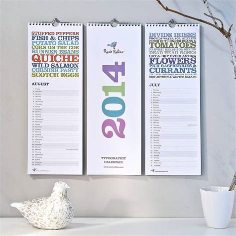 get organised 2014 calendars for home or work fresh design blog