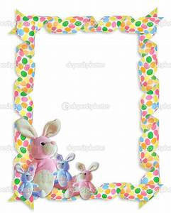 Easter Egg Page Border | Easter Border ribbons bunnies ...