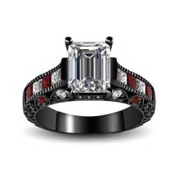 black wedding sets black and 39 s engagement ring with cubic ziconia