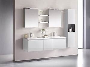 Spiegel Hochschrank Bad : bad m bel kombination cosma 160cm g ste wc kombination mit doppelwaschbecken und zwei spiegel ~ Buech-reservation.com Haus und Dekorationen
