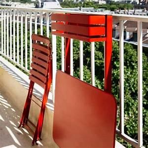 Table Balcon Pliante : table pliante bistro balcon coquelicot de fermob ~ Teatrodelosmanantiales.com Idées de Décoration