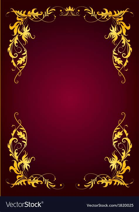 elegant template  greeting card invitation vector image