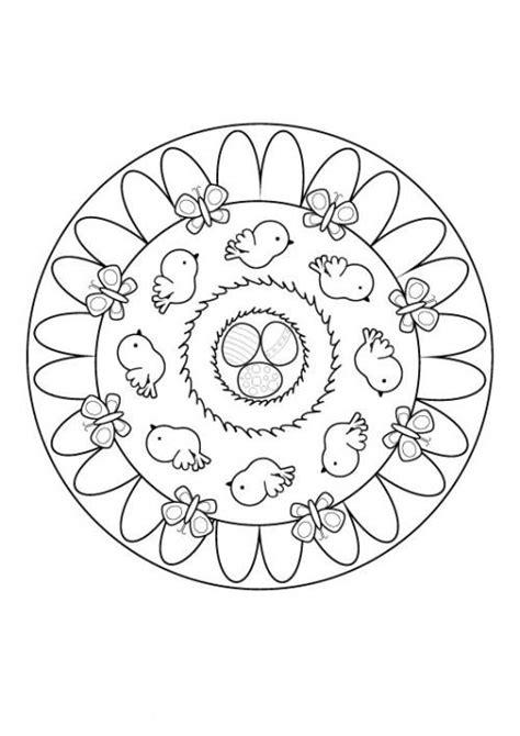 kostenlose malvorlage mandalas oster mandala zum ausmalen