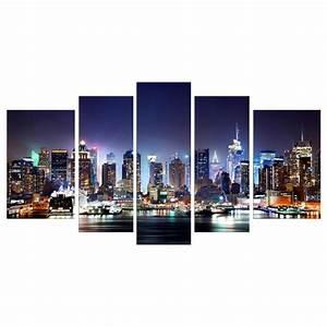 Tableau Plusieurs Panneaux : city by night tableau multi panneaux urbain 110x60cm ~ Teatrodelosmanantiales.com Idées de Décoration